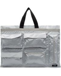 Raf Simons - Silver And Black Eastpak Edition Poster Tote - Lyst