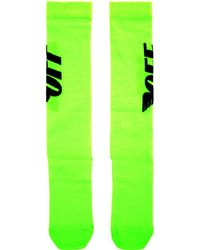 Off-White c/o Virgil Abloh - Green Wings Socks - Lyst