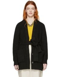 Proenza Schouler - Black Cotton And Cashmere Cardigan - Lyst