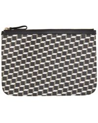 Pierre Hardy - Black And White Perspective Cube Pouch - Lyst