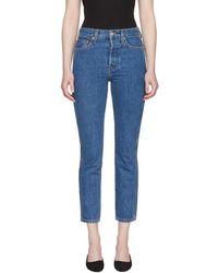 RE/DONE - Blue Originals Double Needle Crop Jeans - Lyst