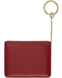 Maison Margiela - Red Keychain Card Holder - Lyst