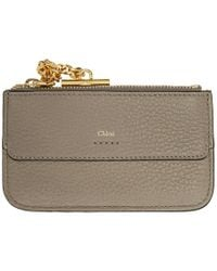 Chloé - Grey Drew Card Holder - Lyst