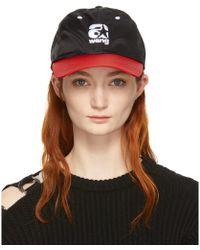Alexander Wang - Red And Black Nylon Baseball Cap - Lyst