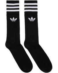 adidas Originals - Three-pack Black Logo Solid Crew Socks - Lyst