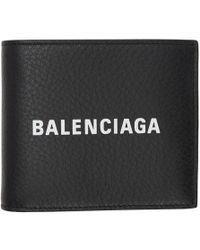 Balenciaga - Black Everyday Logo Square Wallet - Lyst