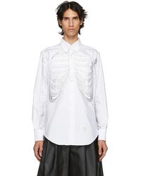 Thom Browne - White Skeleton Point Collar Shirt - Lyst
