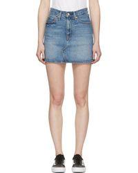 Levi's - Blue Deconstructed Denim Skirt - Lyst