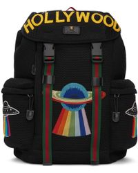 Gucci Black Mesh Hollywood Backpack