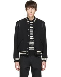 Saint Laurent - Black Classic Teddy Bomber Jacket - Lyst