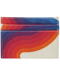 Dries Van Noten - Porte-cartes en toile multicolore edition Verner Panton - Lyst