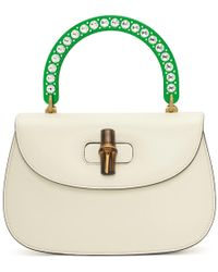 Gucci - White Medium Borsa Bamboo Bag - Lyst