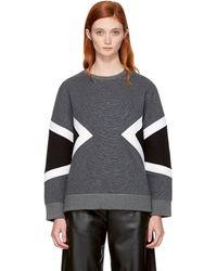 Neil Barrett - Grey Zebra Modernist Sweatshirt - Lyst