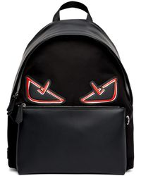 Fendi - Black And Red Bag Bugs Backpack - Lyst