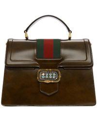 Gucci - Brown Medium Borsa Snake Bag - Lyst