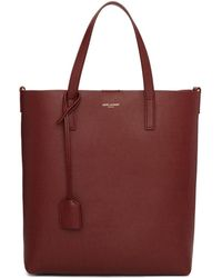 Saint Laurent - Burgundy Toy North South Shopping Tote - Lyst