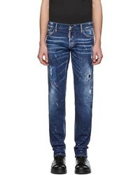 DSquared² - Blue Perfection Wash Slim Jeans - Lyst
