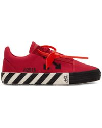 Off-White c/o Virgil Abloh - Baskets rayees rouges Vulcanized - Lyst