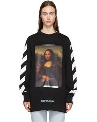 Off-White c/o Virgil Abloh - Black And White Diagonal Monalisa T-shirt - Lyst