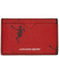 Alexander McQueen - Red Dancing Skeleton Card Holder - Lyst