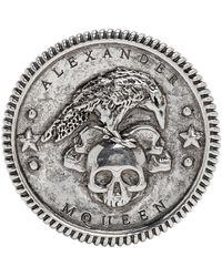 Alexander McQueen - Silver Crow Medallion Ring - Lyst