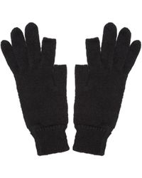 Rick Owens - Black Knit Alpaca Gloves - Lyst