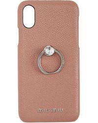 Miu Miu - Pink Crystal Ring Iphone X Case - Lyst