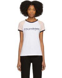 Courreges - Tricolor Vintage Logo T-shirt - Lyst