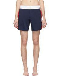 Vilebrequin - Navy Flat Belt Merle Swim Shorts - Lyst