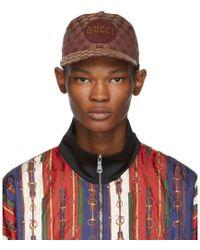 Gucci Tan GG Patch Cap - Brown