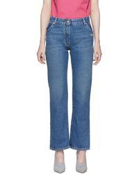 Off-White c/o Virgil Abloh - Blue Cropped Leg Jeans - Lyst