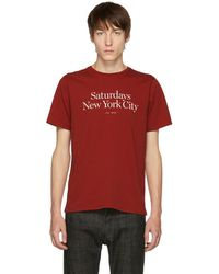 Saturdays NYC - Red Miller Standard T-shirt - Lyst