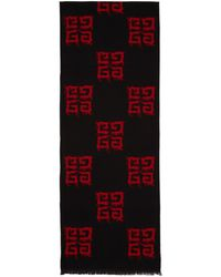 Givenchy - Red And Black Multi 4g Scarf - Lyst