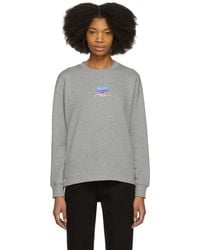 Courreges - Grey Snapped Logo Sweatshirt - Lyst