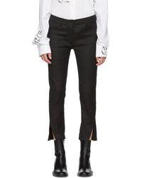 Ann Demeulemeester - Black Linen Walsh Jeans - Lyst