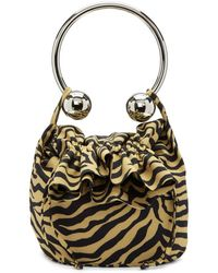 Ashley Williams - Brown And Black Tiger Piercing Bag - Lyst
