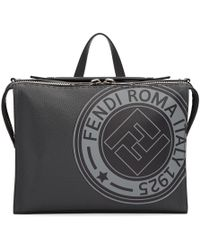 Fendi - Black Roma Stamp Messenger Bag - Lyst