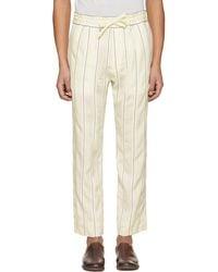 Haider Ackermann | Off-white Stripe Kunzite Trousers | Lyst