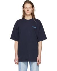 Vetements - Navy Fibre Optic T-shirt - Lyst