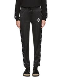 Marcelo Burlon - Black And White Kappa Editin Tape Track Pants - Lyst