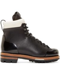 Feit | Black Leather Arctic Hiker Boots | Lyst