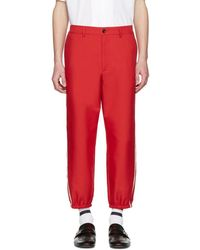 Gucci - Red Vintage Trousers - Lyst