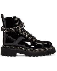 Balmain - Black Chain Army Boots - Lyst