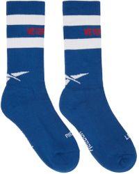 Vetements - Blue Reebok Edition Tennis Socks - Lyst