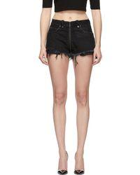Unravel - Black Denim Full Zip Shorts - Lyst