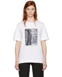 Jil Sander | Ssense Exclusive White Mario Sorrenti Edition 009 T-shirt | Lyst