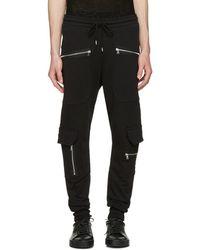 Markus Lupfer - Black Cargo Zip Lounge Trousers - Lyst