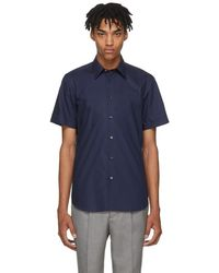 PS by Paul Smith - Navy Short Sleeve Tailored Shirt - Lyst