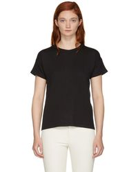 Rag & Bone - Black Kat Split T-shirt - Lyst