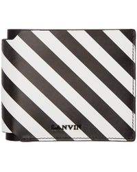 Lanvin - Black And White Striped Wallet - Lyst